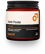 Fragrances, Perfumes, Cosmetics Hair Paste - Beviro Matt Paste Strong Hold