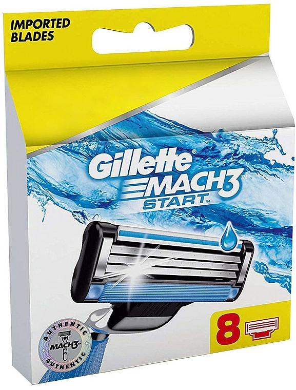 Replacement Shaving Cassettes, 8 pcs - Gillette Mach3 Start
