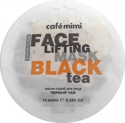 "Face Scrub-Mask ""Black Tea & Lemongrass"" - Cafe Mimi Face Mask"