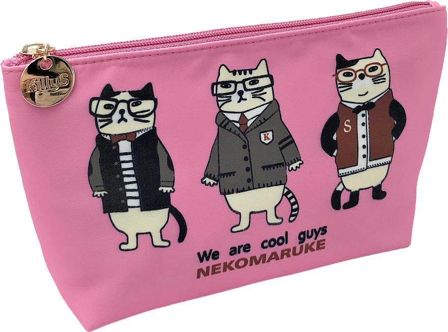 """Makeup Bag """"Odd Animals"""", pink - KillyS"""