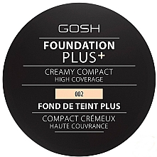 Fragrances, Perfumes, Cosmetics Compact Foundation - Gosh Foundation Plus + Creamy Compact High Coverage