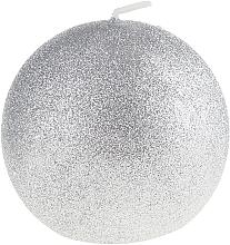 "Fragrances, Perfumes, Cosmetics Decorative Candle ""Glamour Ball"", silver, 10 cm - Artman Glamour"