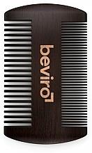 Fragrances, Perfumes, Cosmetics Beard Brush - Beviro Pear Wood Beard Comb