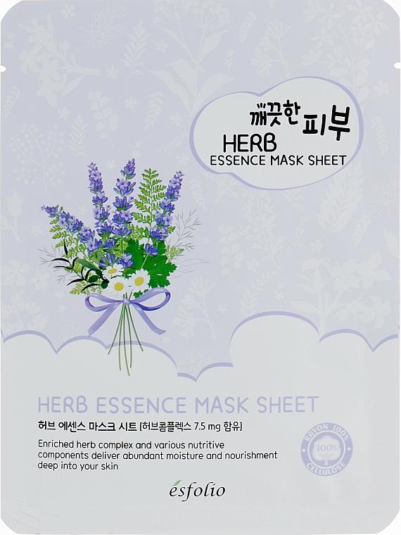 Herbal Sheet Mask - Esfolio Pure Skin Essence Herb Mask Sheet