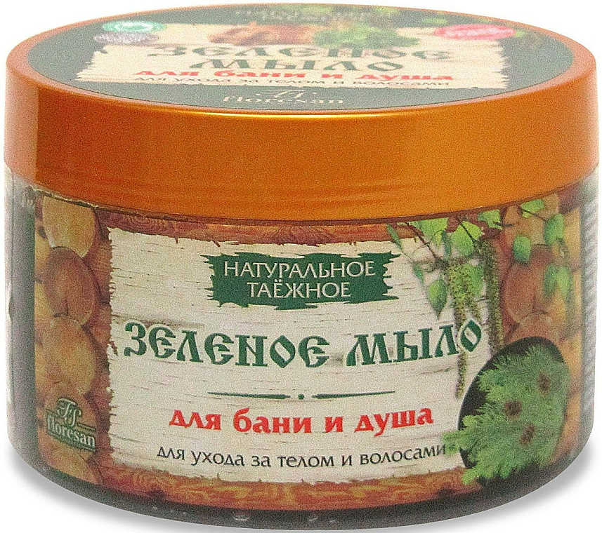 """Soap for Bath and Shower, for Body and Hair Care, Natural Taiga """"Green"""" - Floresan"""