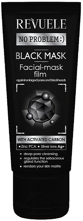 Activated Charcoal Peel Off Mask - Revuele No Problem Black Mask