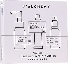 Fragrances, Perfumes, Cosmetics Set - D'Alchemy 3 Step Ultimate Cleansing Travel Pack (toner/30ml + f/cleanser/50ml + f/peel/15ml)
