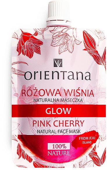 "Natural Face Mask ""Pink Cherry"" - Orientana Glow Natural Face Mask Pink Cherry"