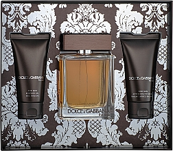 Fragrances, Perfumes, Cosmetics Dolce&Gabbana The One For Men - Set (edt/100ml + ash/balm/50ml + sh/gel/50ml)