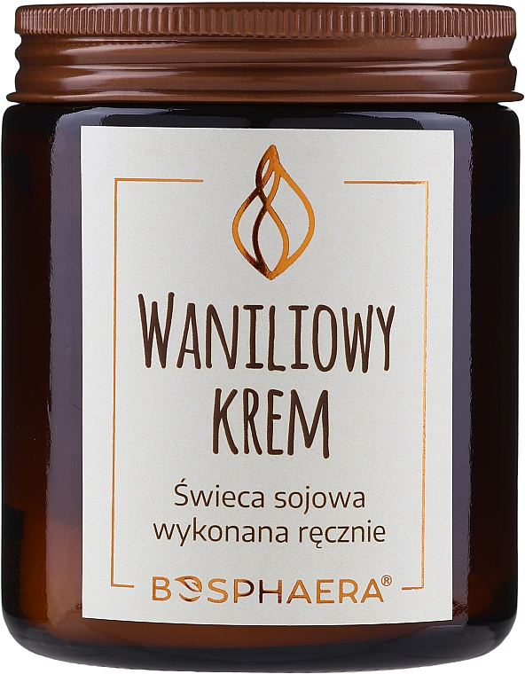 "Scented Soy Candle ""Vanilla Cream"" - Bosphaera Vanilla Cream Candle"