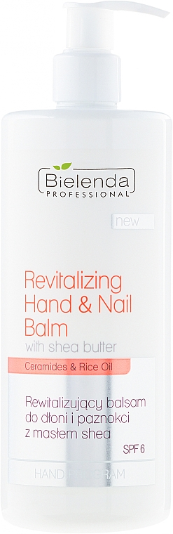 Regenerating Hand & Nail Balm - Bielenda Professional Hand Program Revitalizing Hand & Nail Balm SPF 6