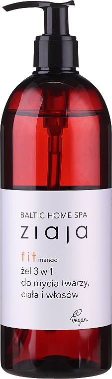 Versatile Mango Face, Body & Hair Gel, with pump - Ziaja Baltic Home Spa Gel Mango
