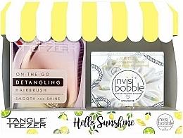 Fragrances, Perfumes, Cosmetics Set - Tangle Teezer Compact Styler Hello Sunshine Set (brush/1szt + hair/tie/1szt)