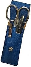"Fragrances, Perfumes, Cosmetics Travel Manicure Set ""PL891"", blue - DuKaS"