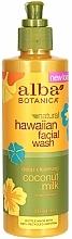 "Fragrances, Perfumes, Cosmetics Face Cleanser ""Coconut Milk"" - Alba Botanica Natural Hawaiian Natural Hawaiian Facial Wash Deep Cleansing Coconut Milk"