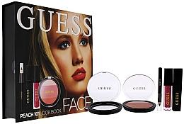 Fragrances, Perfumes, Cosmetics Set - Guess Beauty Face Lookbook Beauty 101 Peach (lipstick/4.1ml + eye/sh/7g + mascara/4ml + eyeliner/0.5g)
