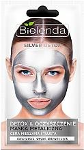 Fragrances, Perfumes, Cosmetics Detox Mask for Oily and Combination Skin - Bielenda Silver Detox Metallic Mask