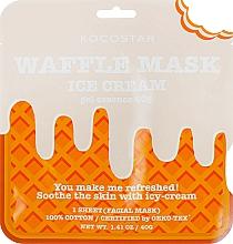 Fragrances, Perfumes, Cosmetics Soothing Waffle Mask 'Creamy Icecream' - Kocostar Ice Cream Waffle Mask