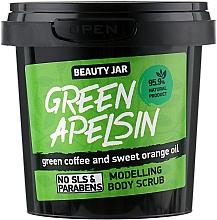 "Fragrances, Perfumes, Cosmetics Modelling Body Scrub ""Green Apelsin"" - Beauty Jar Modelling Body Scrub"