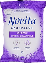 "Fragrances, Perfumes, Cosmetics Wet Wipes with Natural Oil Complex ""Make Up"" - Novita Delicate"
