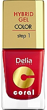 Fragrances, Perfumes, Cosmetics Nail Gel Polish - Delia Cosmetics Coral Nail Hybrid Gel