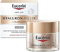 Fragrances, Perfumes, Cosmetics Anti-Aging Night face Cream - Eucerin Hyaluron-Filler + Elasticity Night Cream