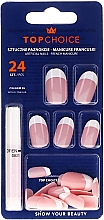 """Fragrances, Perfumes, Cosmetics Fake Nails """"French"""" with Glue, 74066 - Top Choice"""