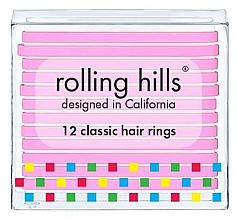 Fragrances, Perfumes, Cosmetics Hair Rings Set - Rolling Hills Classic Hair Rings Pink