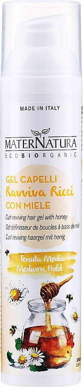 Styling Honey Fluid Gel for Curly Hair - MaterNatura Curl Reviving Hair Gel With Honey