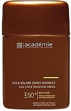 Fragrances, Perfumes, Cosmetics Sensitive Areas Protective Sun Stick - Academie Sun Stick Sensitive Areas SPF 50+