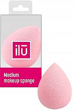 Fragrances, Perfumes, Cosmetics Raindrop Medium Makeup Sponge, pink - Ilu Sponge Raindrop Medium Pink