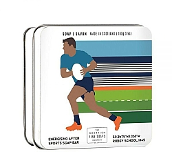 """Fragrances, Perfumes, Cosmetics Soap """"Rugby"""" - Scottish Fine Soaps Rugby Sports Soap In A Tin"""
