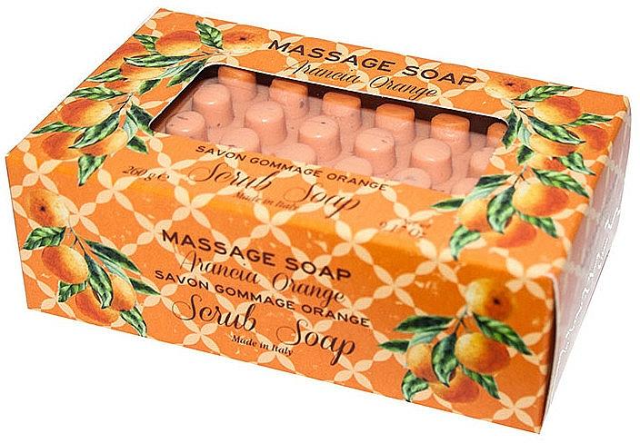 Orange Massage Scrub Soap - Gori 1919 Massage Scrub Soap Orange — photo N1