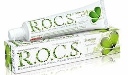 """Fragrances, Perfumes, Cosmetics Toothpaste """"Morning Energy With Double Mint Flavor"""" - R.O.C.S.."""