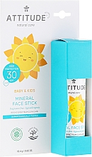 Fragrances, Perfumes, Cosmetics Facial Sunscreen Stick - Attitude Mineral Face Stick SPF 30