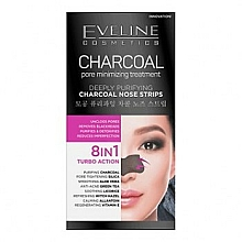 Fragrances, Perfumes, Cosmetics Deep Cleansing Nose Stripes - Eveline Cosmetics Charcoal Nose Strips
