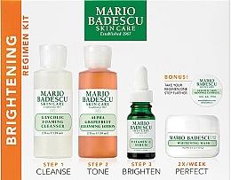 Fragrances, Perfumes, Cosmetics Set - Mario Badescu The Brightening Kit (foam/117ml+lot/236ml+ser/29ml+mask/56g+complex/3g)
