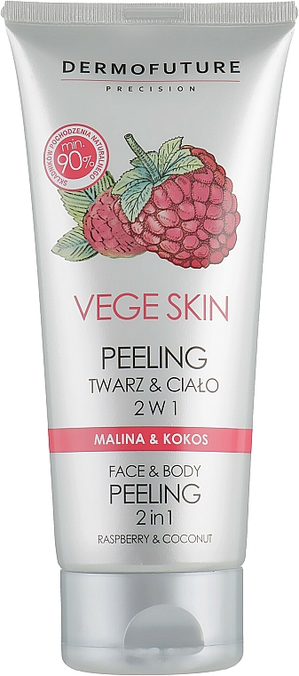"""Face and Body Peeling """"Raspberry and Coconut"""" - DermoFuture Vege Skin Face & Body Peeling Raspberry & Coconut"""