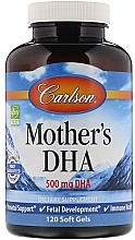 Fragrances, Perfumes, Cosmetics Mother's DHA, 500mg - Carlson Labs Mother's DHA