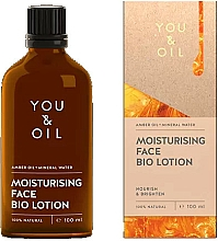 Fragrances, Perfumes, Cosmetics Face Bio Lotion - You & Oil Moisturising Face Bio Lotion Amber Oil+Mineral Water