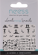 Fragrances, Perfumes, Cosmetics Nail Stickers, 3684, BD-007 - Neess