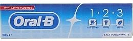 Fragrances, Perfumes, Cosmetics Toothpaste - Oral B 1-2-3 Salt Power White Toothpaste