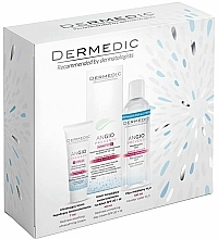 Fragrances, Perfumes, Cosmetics Set - Dermedic Angio (cr/40ml + cr/7ml + micel/water/100ml)