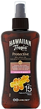 Fragrances, Perfumes, Cosmetics Protective Dry Oil - Hawaiian Tropic Protective Dry Spray Sun Oil SPF 15