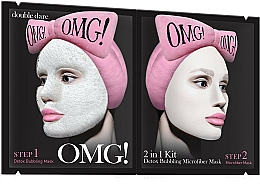 Fragrances, Perfumes, Cosmetics 2-in-1 Facial Cleansing Mask - Double Dare OMG! 2in1 Kit Detox Bubbling Microfiber Mask
