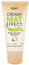Fragrances, Perfumes, Cosmetics Mattifying Foundation Fluid - Hean Creamy Mat Effect