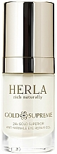 Fragrances, Perfumes, Cosmetics Under Eye Gel - Herla Gold Supreme 24K Gold Superior Anti-Wrinkle Eye Repair Gel