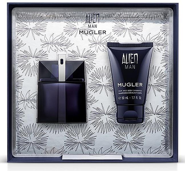 Mugler Alien Man Gift Set - Gift Set (edt/50ml+b/shm/50ml)
