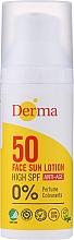 Fragrances, Perfumes, Cosmetics Anti-Aging Sun Face Lotion - Derma Sun Face Lotion Anti-Age SPF50