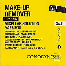 Fragrances, Perfumes, Cosmetics Makeup Remover Wipes - Comodynes Make Up Remover Micellar Solution Easy Cleanser